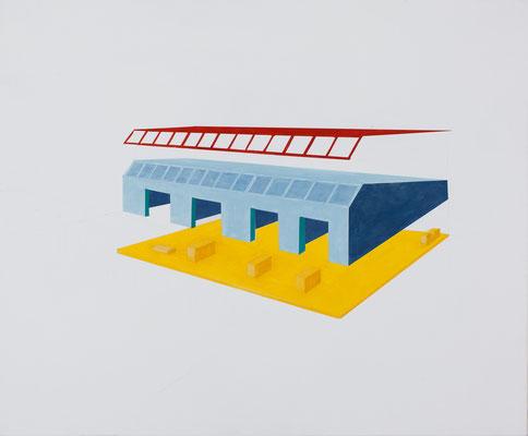 Plateforme. Huile et acrylique sur toile. 54/65 cm . 2015