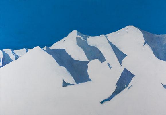 Montagne. huile et acrylique sur toile . 162/230 cm . 2014
