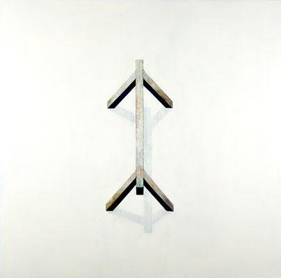 Tréteau.huile sur toile.200.200cm . 2008