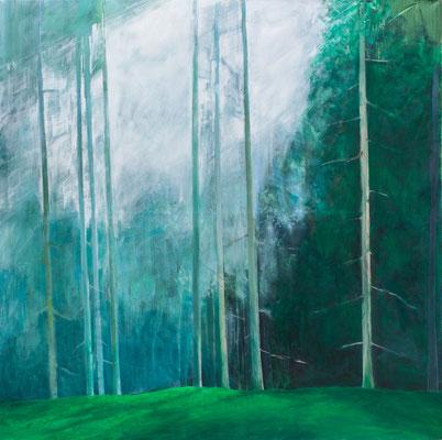 Forêt. huile et acrylique/toile. 200/200cm. 2017