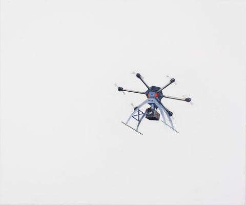 Drone. Huile et acrylique sur toile. 54/65 cm . 2015