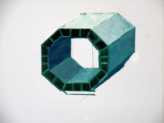 Brique. huile/papier .50/65 cm . 2014