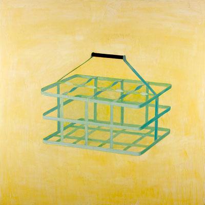 Panier à bouteilles. huile sur toile. 200/200 cm . 2008