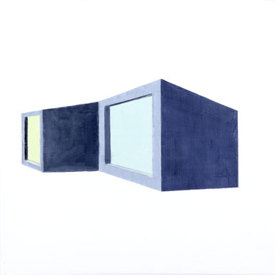 Demeure. huile sur toile. 40/40 cm  . 2012