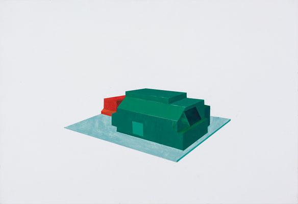 Plateforme. Huile et acrylique sur toile.54/65 cm . 2015