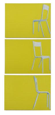 Chaises . Huile sur toile . 2010