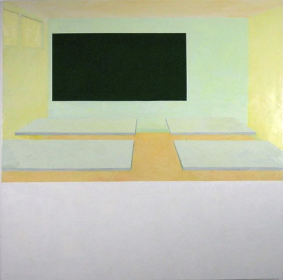 Projection. huile et acrylique sur toile. 200/200 cm . 2009
