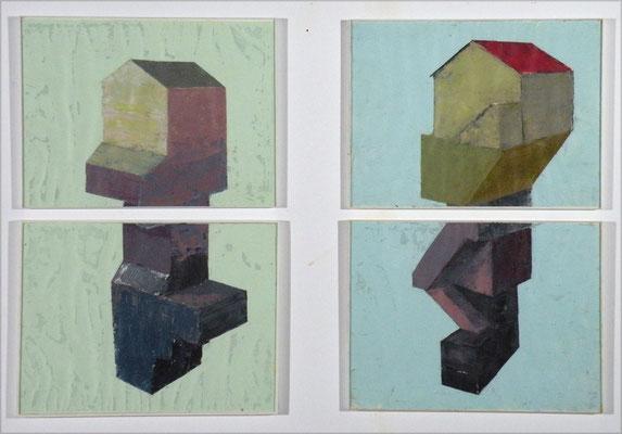Sous sol. huile sur papier. 60/80 cm . 2008