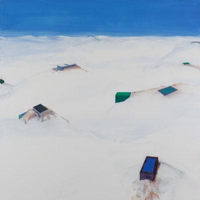 Montagnes. Huile et acrylique/toile.200/200 cm . 2016