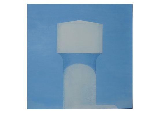Château d'eau. Huile et acrylique sur toile. 200/200 cm . 2007
