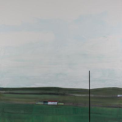 Paysage. Huile et acrylique/toile. 200/200cm . 2016
