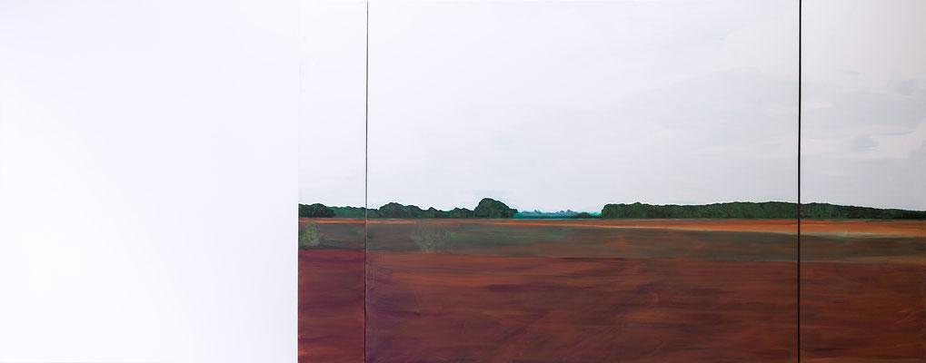 Paysage. huile et acrylique sur toile. 190/480cm. 2017