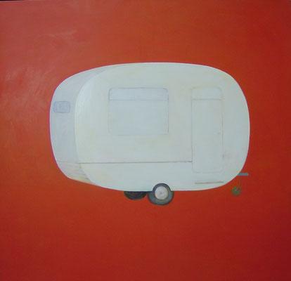 Caravane.huile sur toile . 150/150cm . 2007