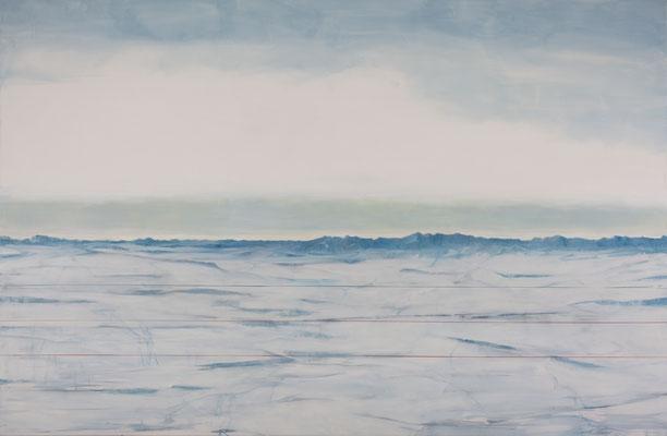 Banquise. Huile et acrylique/toile. 190/290cm . 2016