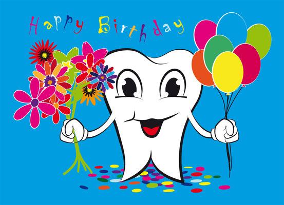 Geburtstagskarte Zahnarzt Mr. Teeth