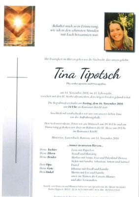 Tina Tipotsch + 14.11.2018