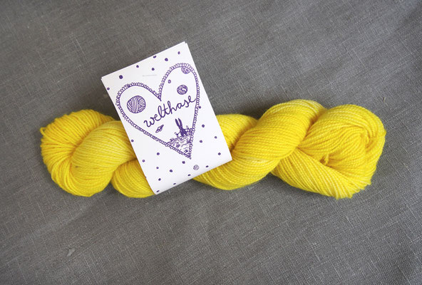 welthase bfl pearl 50g skein lemon, see PICK &KNIT