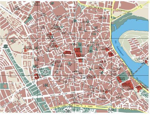Plano urbano de Córdoba.