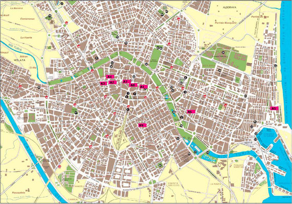 Plano urbano de Valencia.