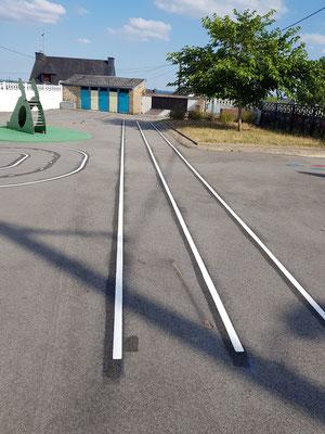 Lignes - Tracés en thermocollé au sol - Imagin'Aires
