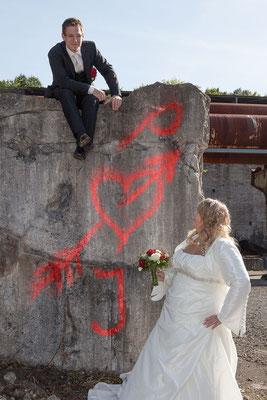Liebe in den Stein gemeißelt