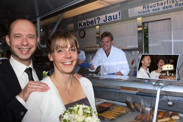 Hochzeit auf dem Wochenmarkt