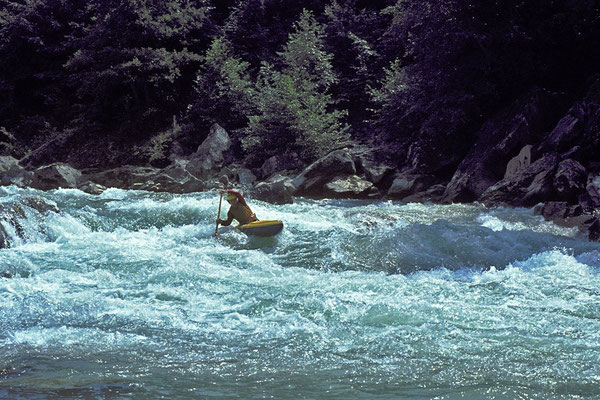 auf der Lieser (Wildwasserwoche Kärnten, Möllbrücke, 1976)