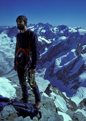 auf dem Gipfel der Dent Blanche (1984)
