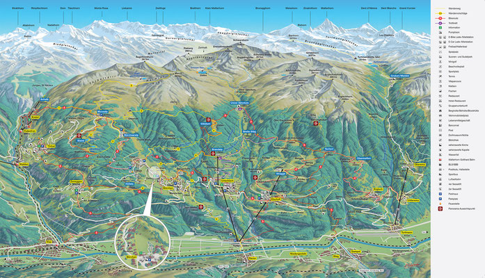 neue Panorama-Wanderkarte der Moosalp-Region