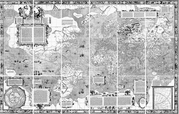 Mercator Weltkarte von 1569 (Quelle: WIKIPEDIA https://upload.wikimedia.org/wikipedia/commons/4/4b/Mercator_1569_world_map_composite.jpg)