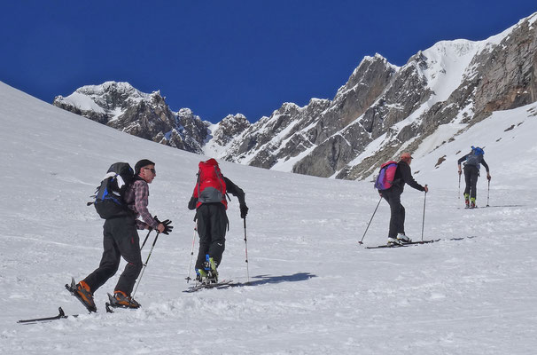 im Anstieg zum Pizzo Bandeira (Alpe Devero, Piemont, Italien)