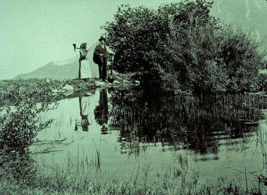 Bode-Weiher in Zeneggen (Quelle: ?Alpinmonographie Stebler, 1921)