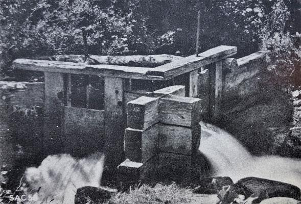 Wasseabschalter  in Zeneggen (Quelle: Alpinmonographie Stebler, 1921)