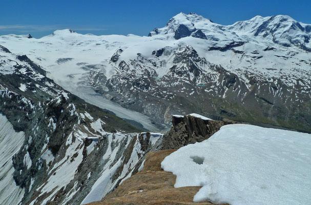 Gipfelpanorama vom Oberrothorn (Zermatt)