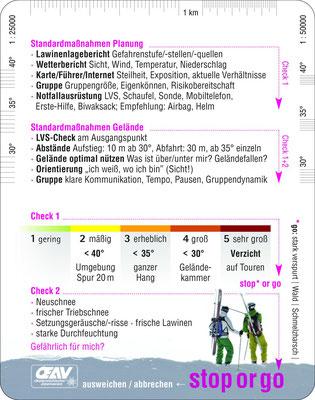 """""""Stop or Go"""" Reduktionsmethode des österreichischen Alpenvereins (https://www.alpenverein.at/noe/home/topnews/2014_09_13_Stop_or_Go.php)"""