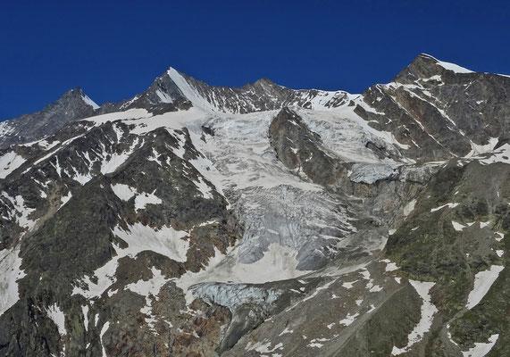 Dom, Lenzspitze, Nadelhorn und Ulrichshorn mit Hohbalmgletscher