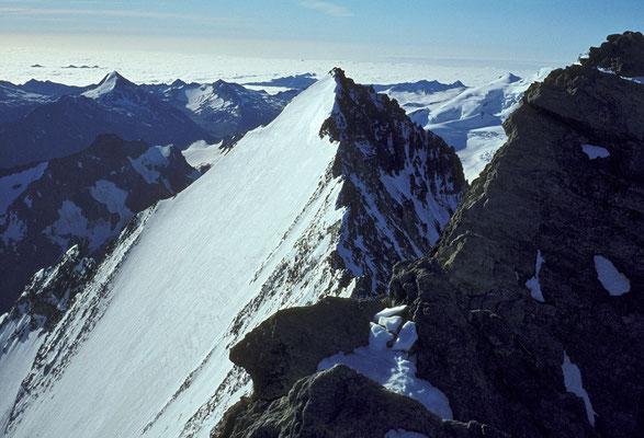 Lenzspitze vom Gipfel des Nadelhorn (1980)