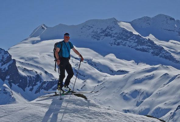 im Aufstieg zum Staldhorn (Walliser Alpen, 2018)
