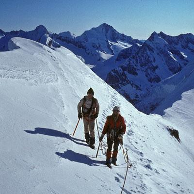im Anstieg zum Aletschhorn (1982)
