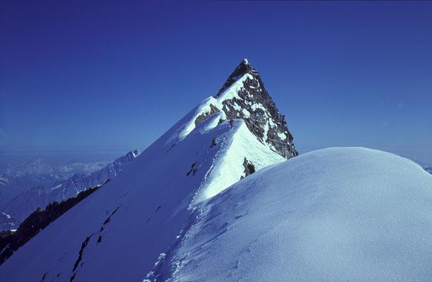 Nordend (Monte Rosa) vom Silbersattel (1986)