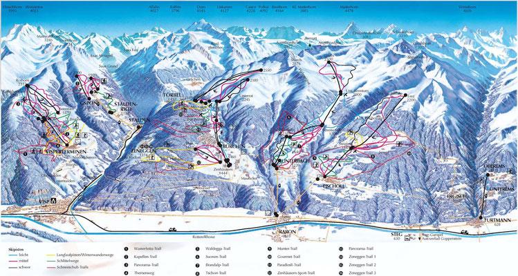 Panoramakarte  (Winter)