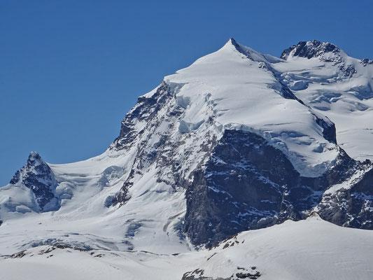 Monte Rosa (v.l.n.r. Jägerhorn, Nordend, Dufourspitze)