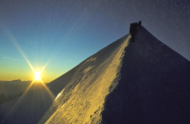 Gipfelgrat (Bossesgrat) des Mont Blanc