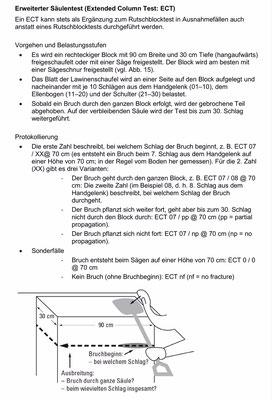 Extended Column Test  (Quelle: SLF-Beobachterhandbuch)