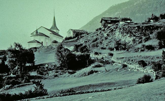 Pfarrkirche (historische Fotos aus Stebler's Alpinmonografie von 1921)