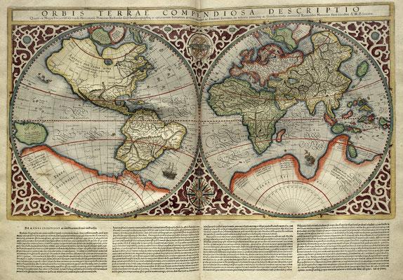 Mercator World Map 1569 Quelle: https://upload.wikimedia.org/wikipedia/commons/5/58/Mercator_World_Map.jpg