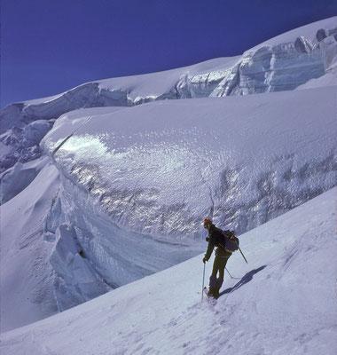 Skiabfahrt vom Mt. Velan (Bourg St-Pierre / Walliser Alpen)