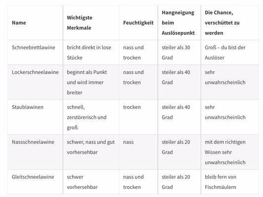 Lawinenarten (http://mountainacademy.salomon.com/de/demo/420/ubersicht-lawinen-und-ihre-merkmale)