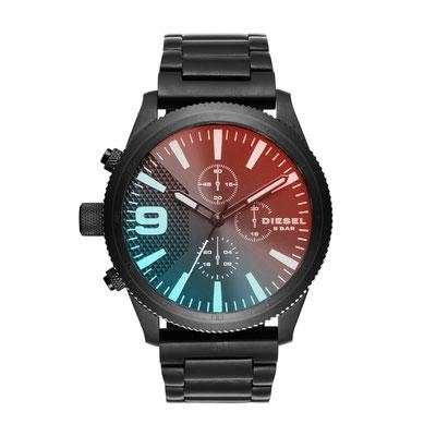 DZ4447 RASP Chronograph/ Glas: Mineralglas/ Gehäusedurchmesser: 50 mm/ Gehäusehöhe: 12 mm/ Wasserdichtigkeit: 50M/ 2-Jahres-Garantie/ Preis : 239€