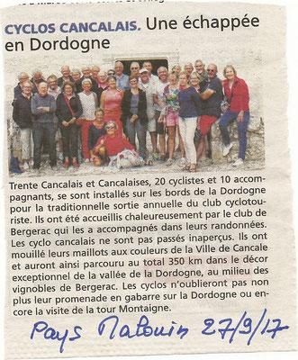 Pays malouin 27/09/2017 Une échappée en Dordogne